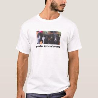 Camiseta caniche o Monte Rushmore