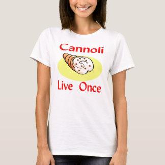 Camiseta Cannoli vivo uma vez
