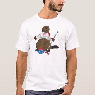 Camiseta Cano principal de ondulação do castor de Canadá
