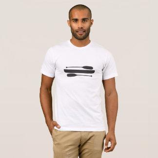 Camiseta Canoa com as duas únicas pás da lâmina