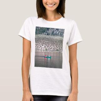 Camiseta Canoe o rio de Similkameen dentro BC, Canadá