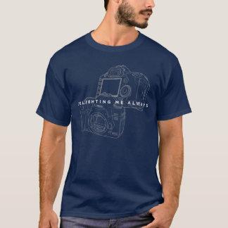 Camiseta Canon que deleita sempre o esboço legal do preto