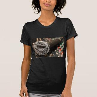 Camiseta Canto do cabo do microfone do cabo do misturador