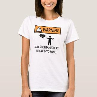 Camiseta Cantor espontâneo de advertência