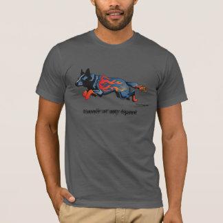 Camiseta Cão australiano do gado - inseguro em alguma