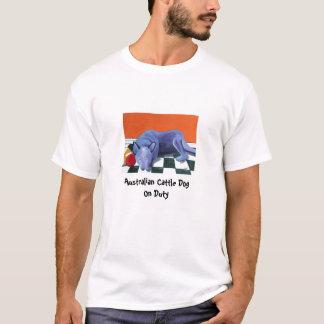 Camiseta Cão australiano do gado no dever