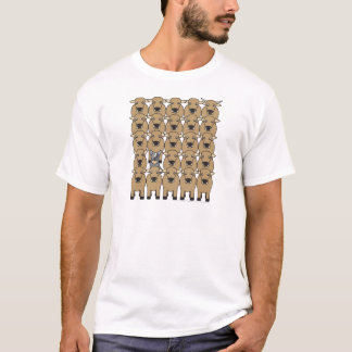 Camiseta Cão australiano do gado no rebanho