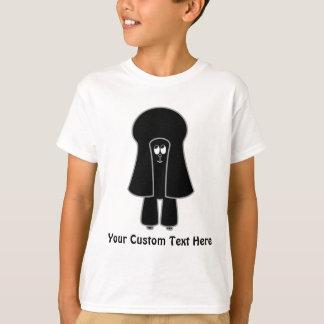 Camiseta Cão bonito. Caniche de brinquedo preta/Poodle.