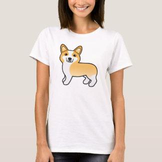 Camiseta Cão bonito do Corgi de Galês do Pembroke dos