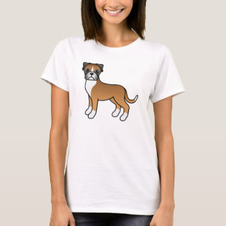 Camiseta Cão bonito do pugilista da jovem corça dos