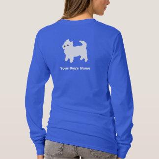 Camiseta Cão branco pequeno - Westie - montanhas ocidentais