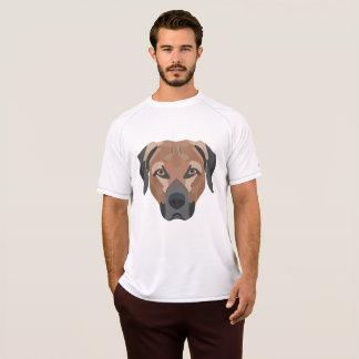 Camiseta Cão Brown Labrador da ilustração