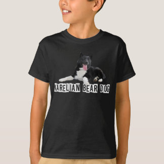 Camiseta Cão careliano do urso - t-shirt dos miúdos