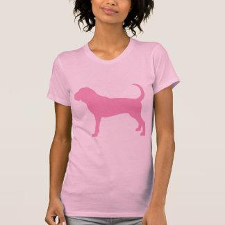 Camiseta Cão cor-de-rosa do Bloodhound