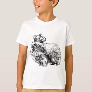 Camiseta Cão da coroa de Pekingese real