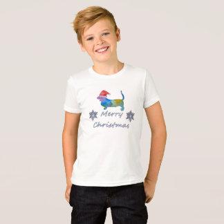 Camiseta Cão de Basset do Natal