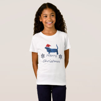 Camiseta Cão de Basset do Natal