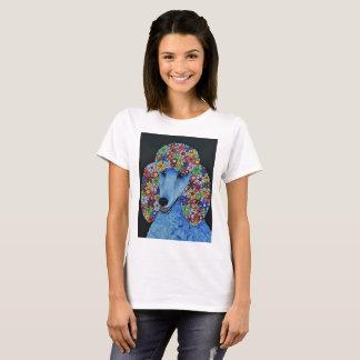 Camiseta Cão de caniche - a arte abstracta projetou o