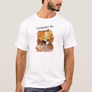 Camiseta cão de cão da caça