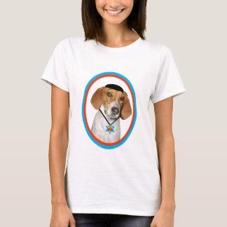 Camiseta Cão de cão engraçado de Thanksgivukkah com Yamaka