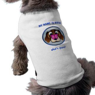 Camiseta Cão de filhote de cachorro bonito do lebreiro e