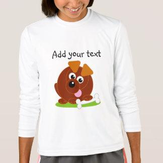 Camiseta Cão de filhote de cachorro bonito do marrom do