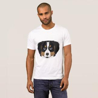 Camiseta Cão de montanha de Bernese da ilustração