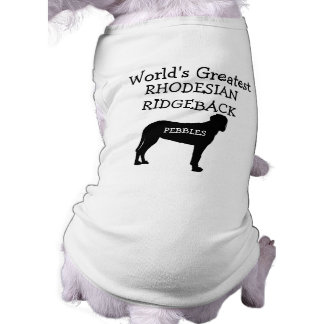 Camiseta Cão de Rhodesian Ridgeback dos mundos feitos sob