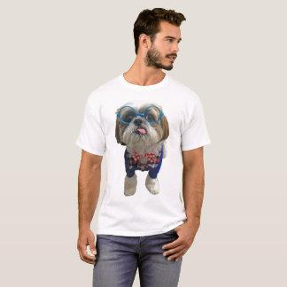 Camiseta Cão de Shih Tzu do hipster