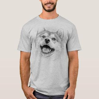 Camiseta Cão de sorriso de Shiba Inu