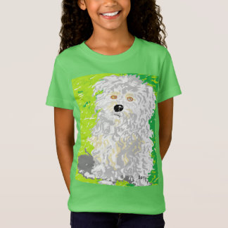 Camiseta Cão desgrenhado do t-shirt das meninas