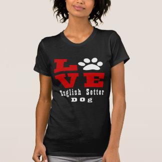 Camiseta Cão Designes do setter inglês do amor