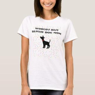 Camiseta Cão do abrigo do t-shirt da mamã do cão do