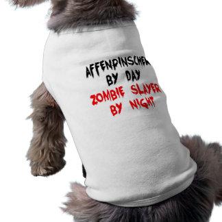 Camiseta Cão do Affenpinscher do assassino do zombi