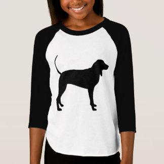 Camiseta Cão do Coonhound (preto)