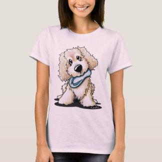 Camiseta Cão do Doodle do bebê da praia