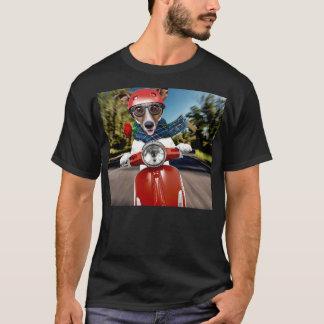 Camiseta Cão do patinete, jaque russell