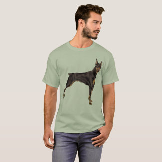 Camiseta Cão do Pinscher do Doberman