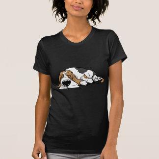 Camiseta Cão dos desenhos animados de Basset Hound