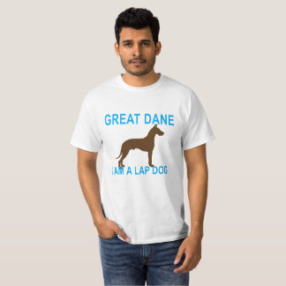 Camiseta CÃO dos pensamentos de great dane.