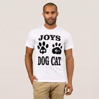Camiseta Cão e gato das alegrias