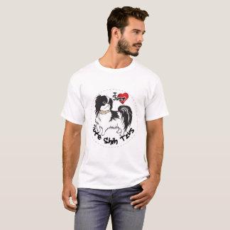 Camiseta Cão engraçado & bonito adorável feliz de Shih Tzu