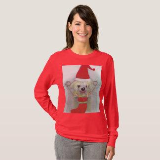 Camiseta Cão engraçado da camisola feia do Natal