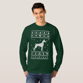 Camiseta Cão feio de great dane do Natal da camisola
