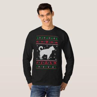 Camiseta Cão feio do rouco do Natal da camisola