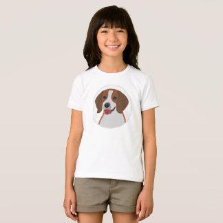 Camiseta Cão grande do lebreiro da cara
