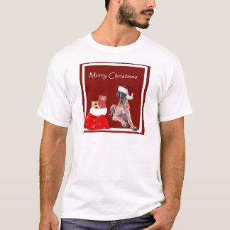 Camiseta Cão great dane do Natal