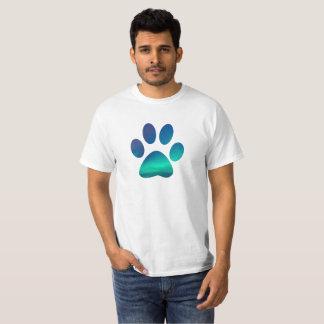 Camiseta Cão legal Pawprint, T do norte das luzes de céu do