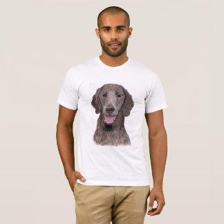 Camiseta Cão Liso-Revestido de Flatcoat do hund do