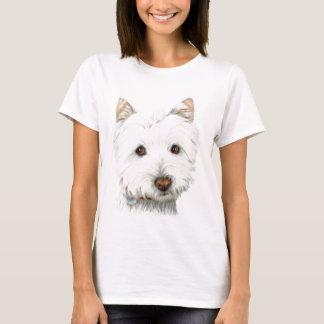 Camiseta Cão Pastel de Westie